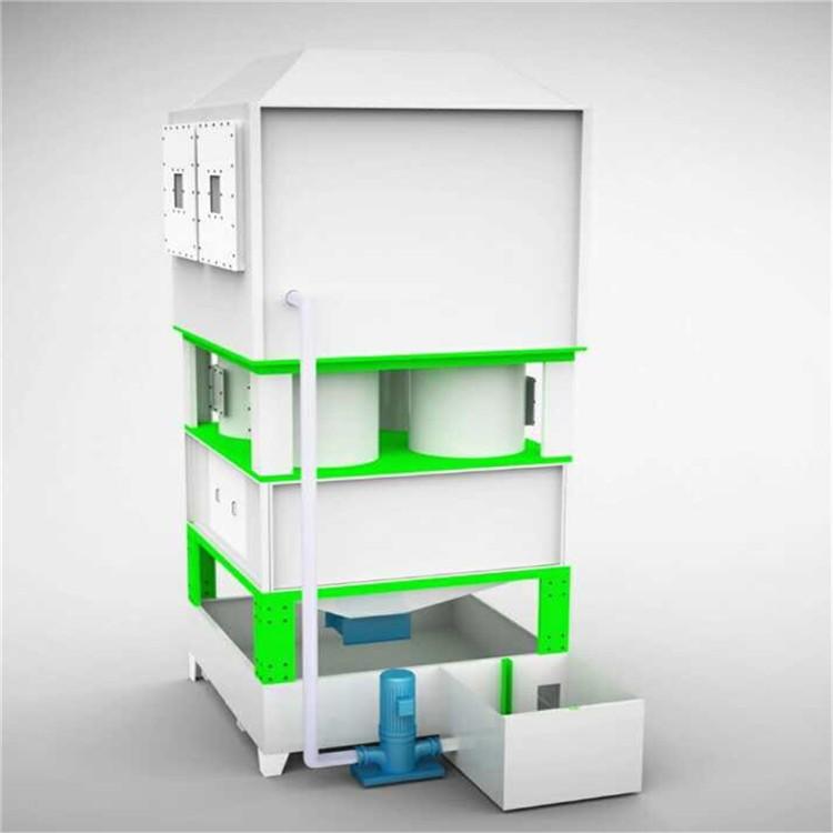 厂家直销万燊环保水旋漆雾废气净化柜WS-JHG-10实用喷漆设备废气漆雾净化设备实用型水漩柜现货销售