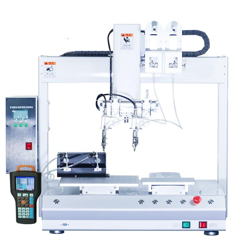 厂家直销全自动焊锡机 PCB线路板排针带旋转全自动焊线机设备焊线机