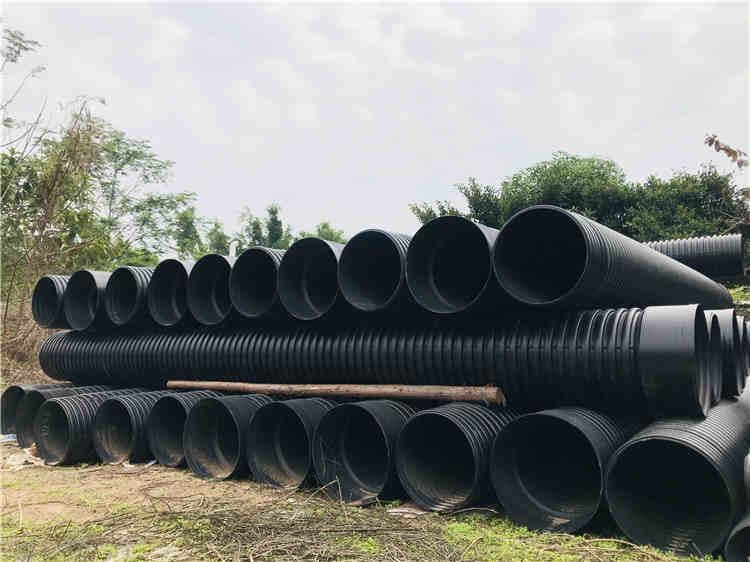 hdpe双壁波纹管 PE波纹塑料管排水排污管 专业双壁波纹管