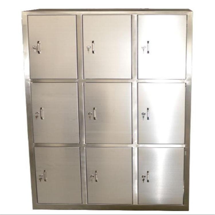 更衣柜生产厂家 不锈钢304更衣柜 201洁净车间储物柜 多门柜鞋柜带锁可定制