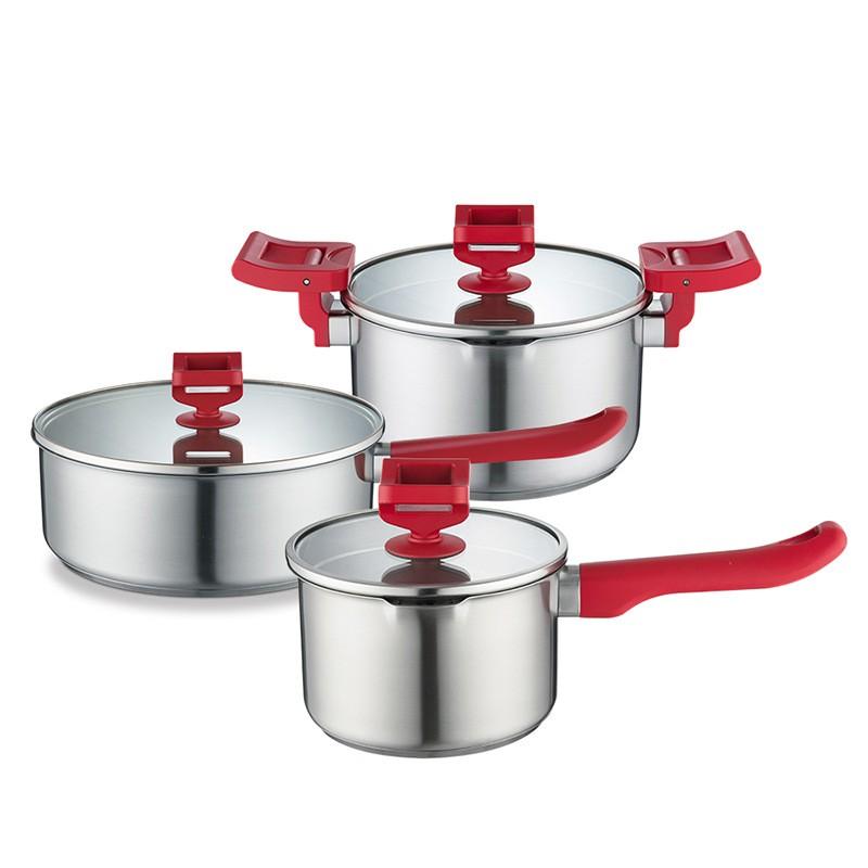 德世朗 荣尊多用套装B DSL-TZ080B 礼品订制 厨房家用锅具组合 MY-DSL-L8-01