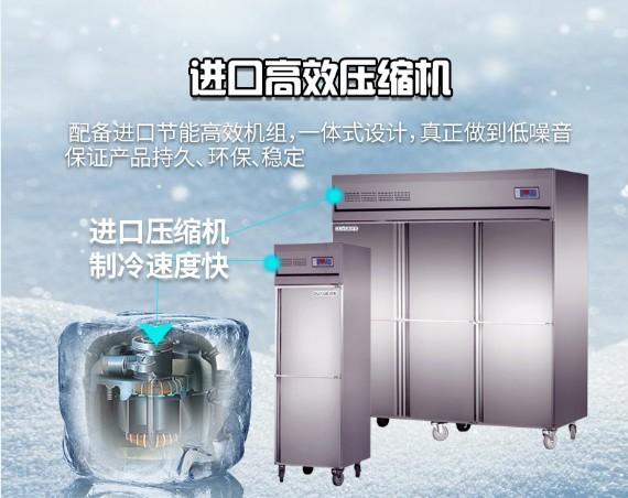 大容量立式冷藏保鲜冰柜厨房柜 餐厅不锈钢厨房冰箱冷冻柜工厂直销
