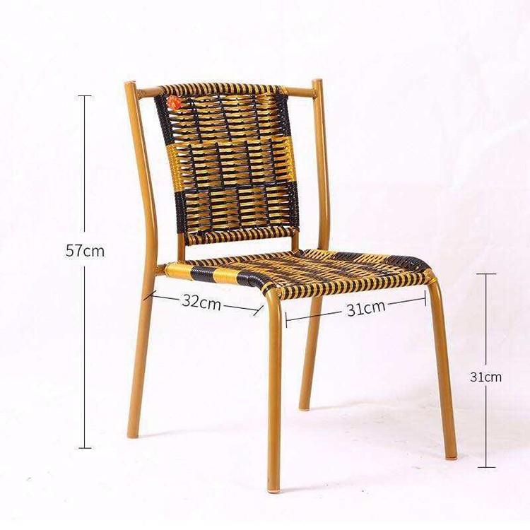 小靠背藤椅批发 小藤椅阳台户外休闲藤椅藤条椅