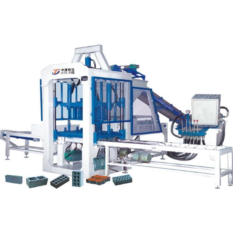 中建机械厂   QT4-15型自动混凝土砌块成型机   采用多种系统共同生产砌块等
