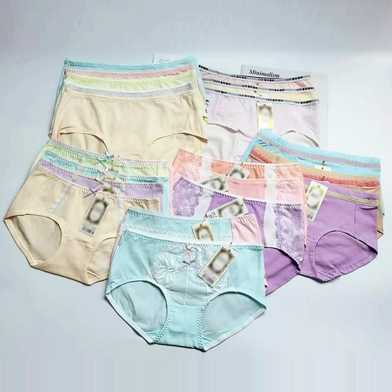 夏季日系少女清新甜美三角裤女士中腰棉质棉档舒适透气女士内裤