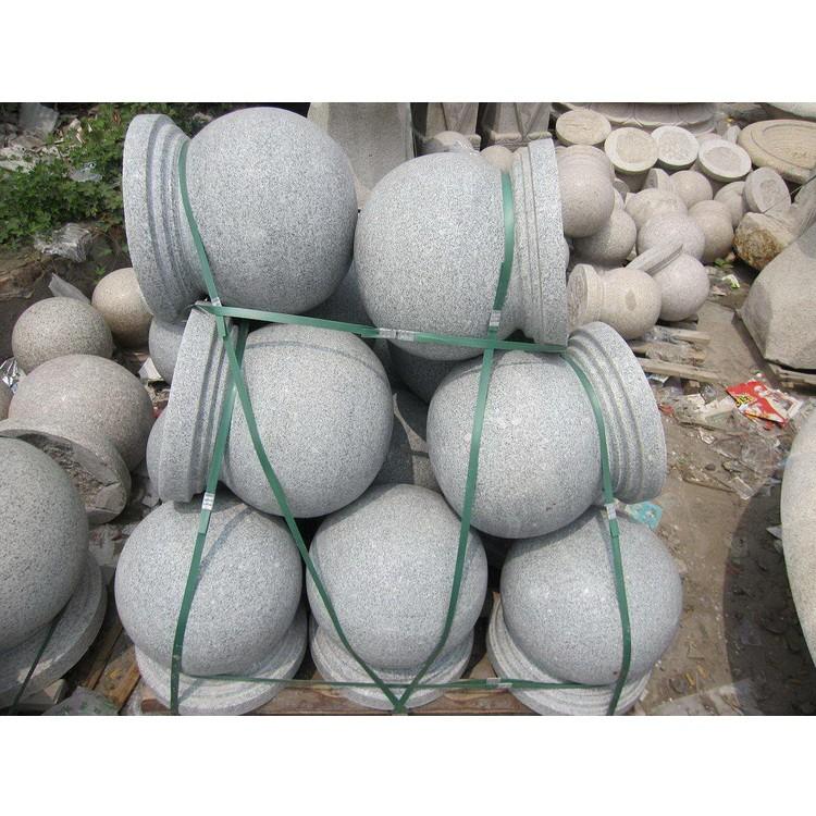 石材花岗岩挡车球规格600mm大理石雕400圆球形道路障球石墩子