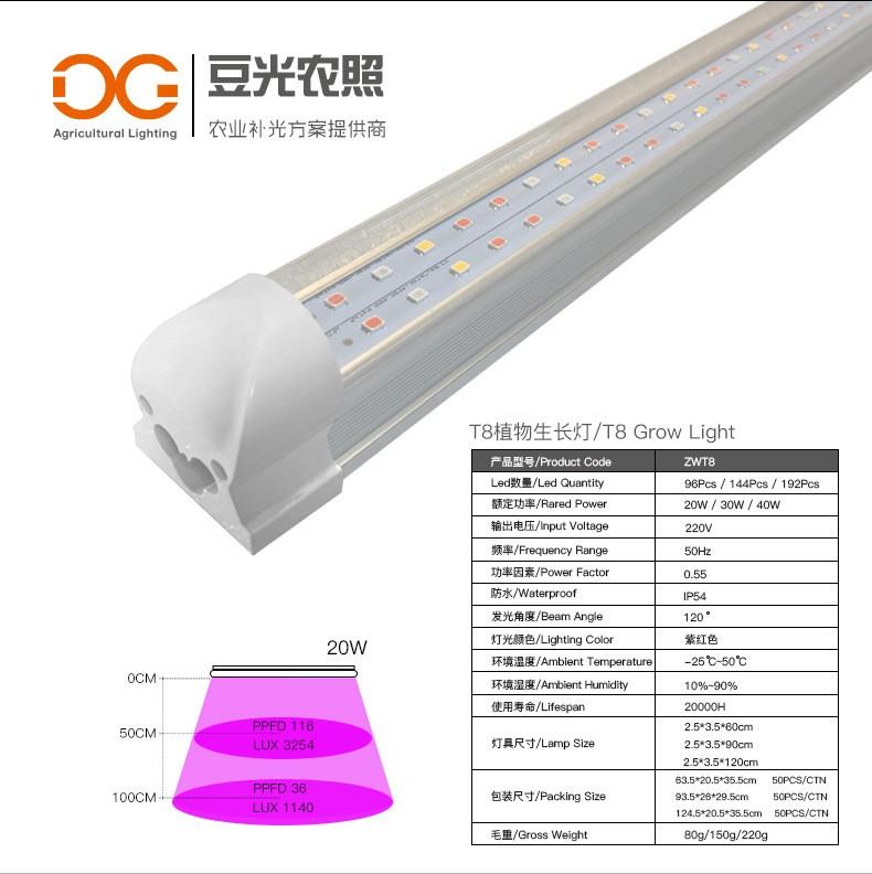 工厂化生产食用菌专用补光灯LED光源T5灯管24V低压 、植物生长灯