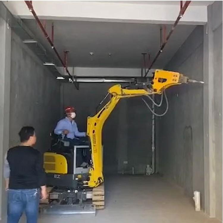 小挖机 微挖出租、一米宽挖机出租、室内敲打拆出