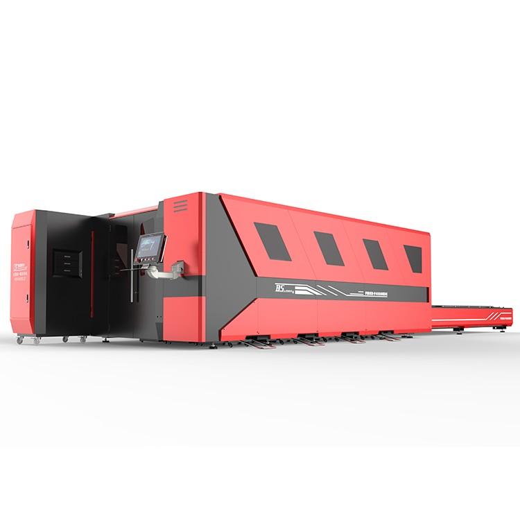 汽车配件机械配件加工广东佛山百盛激光F4020HDE大包围爬坡激光切割机全封闭式设计环保切割