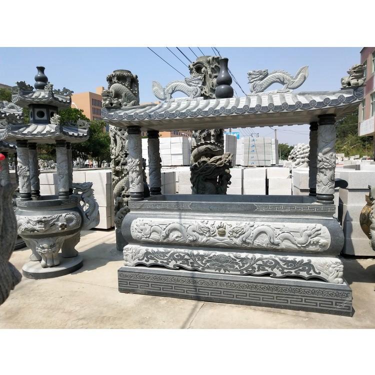 石雕青石香炉长方形石头香炉摆件寺院烧香炉支持定做各种尺寸