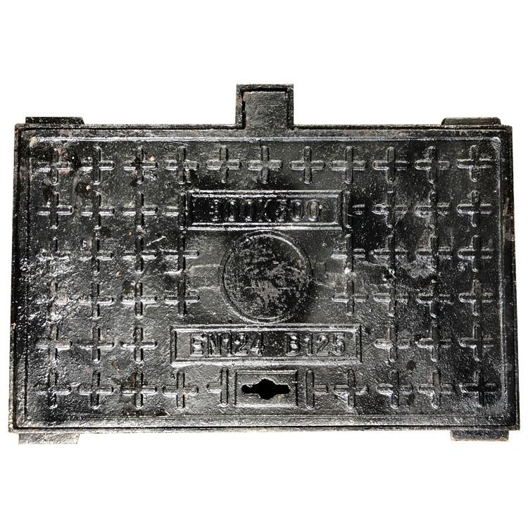 铸铁井盖海历达生产厂家 球墨铸铁方形井盖批发