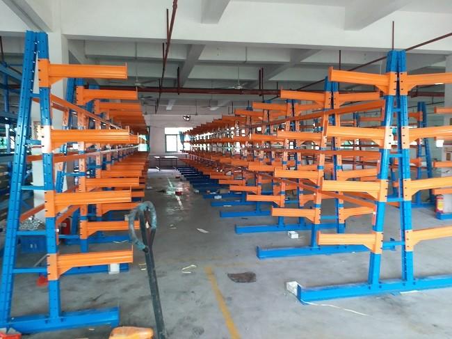 惠阳钢材悬臂式货架五金钢管管材悬臂阁楼货架厂房货架直销定做