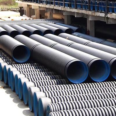 hdpe双壁波纹管长期批发 农田排涝管工业排污管 双壁波纹管供应价格