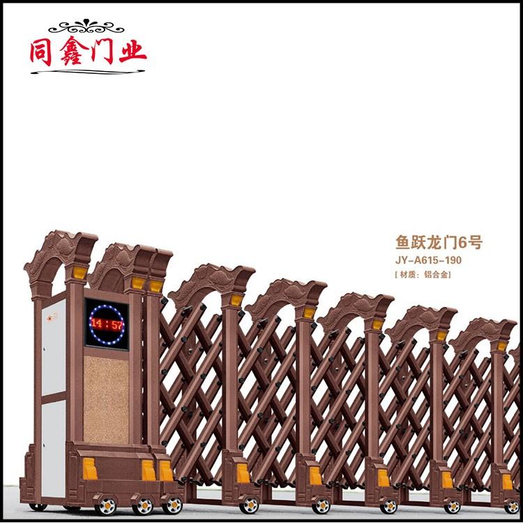 不锈钢伸缩平移门 鱼跃龙门系列伸缩门定制生产厂家