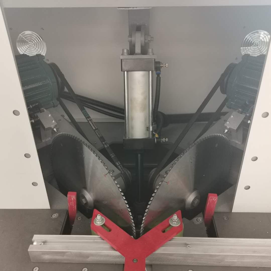 浩宏威 双刀锯  铝材切割机 半自动切断机  全铝家居切角机 门窗型材断料锯