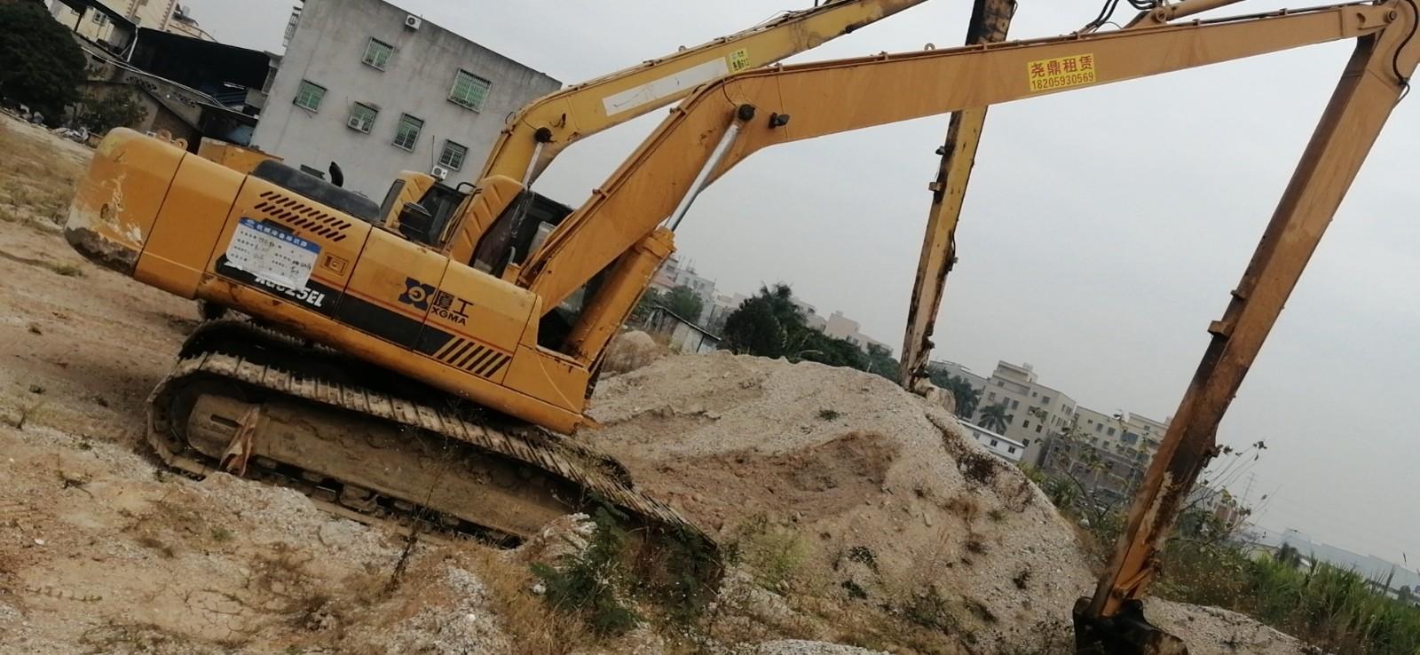 厦门24米长臂挖掘机出租、厦工各型号挖掘机出租