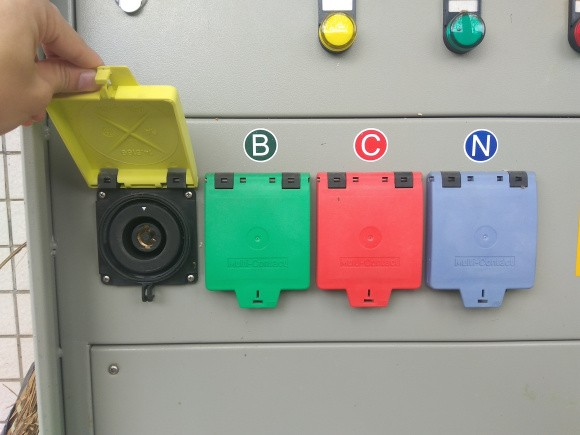 630A 南方电网专用 大电流连接器 大电流快速接连器 发电车电源接口 发电车应急接入单元