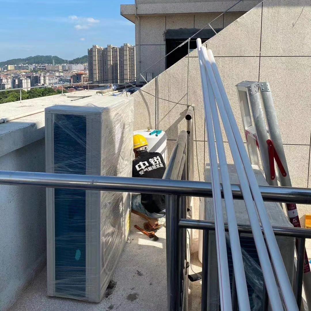 空气源热泵机组 空气源热泵空调机组 中锐分体式变频采暖热泵机组 厦门空气能热泵采暖设备厂家