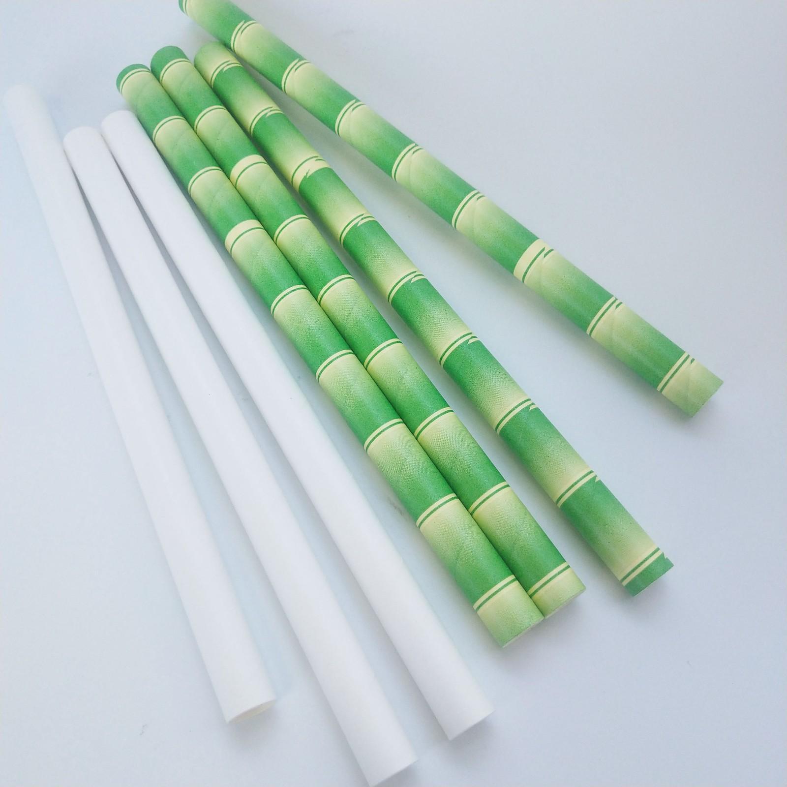 龙岩吸管定制厂家生产供应竹色12*197饮料纸吸管